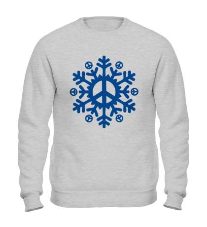 Свитшот Снежинка мира