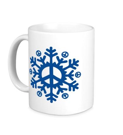 Керамическая кружка Снежинка мира