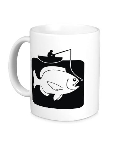 Керамическая кружка Рыбак и большая рыба