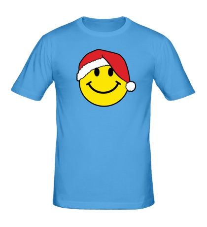 Мужская футболка Новогодняя рожица