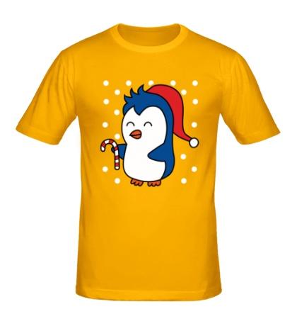 Мужская футболка Пингвин в шапке