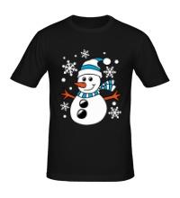 Мужская футболка Веселый снеговичок