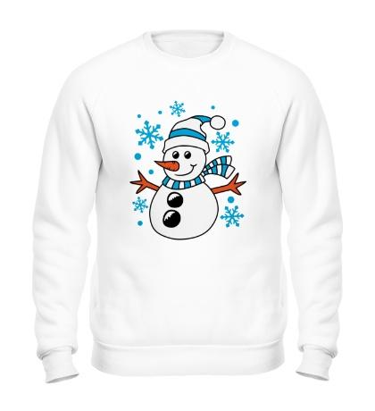 Свитшот Веселый снеговичок