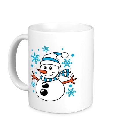 Керамическая кружка Веселый снеговичок