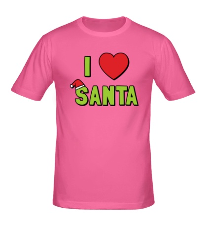 Мужская футболка I love santa
