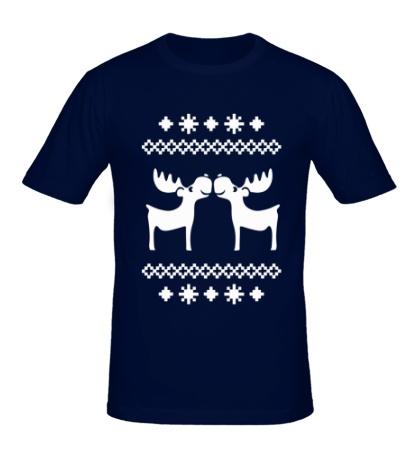 Мужская футболка Узор с оленями