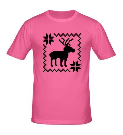 Мужская футболка Новогодний узор олень