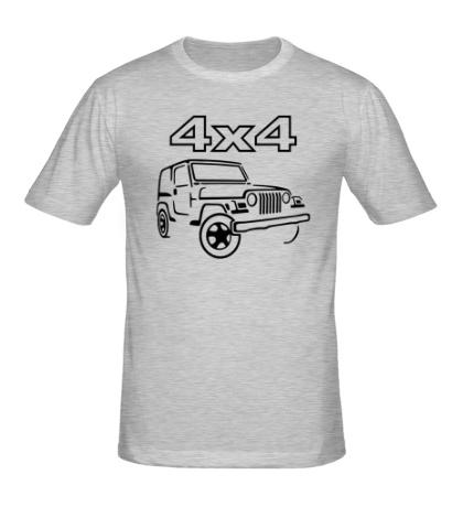 Мужская футболка 4x4 внедорожники