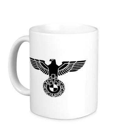 Керамическая кружка Орел со знаком БМВ
