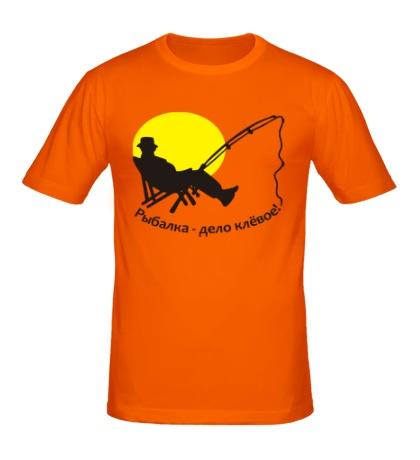 Мужская футболка Рыбалка, дело клевое