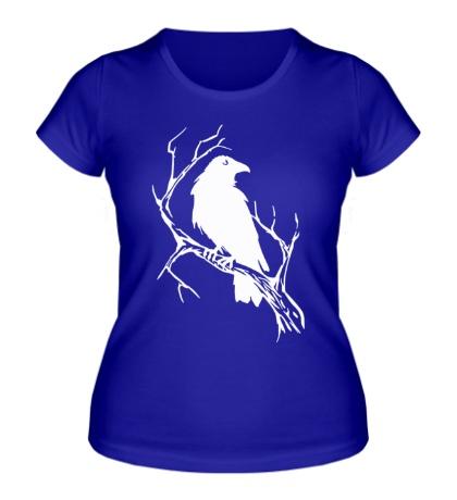 Женская футболка Ворон на ветви
