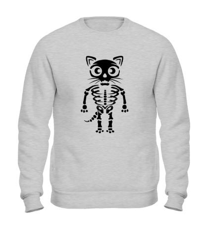 Свитшот Скелет кота