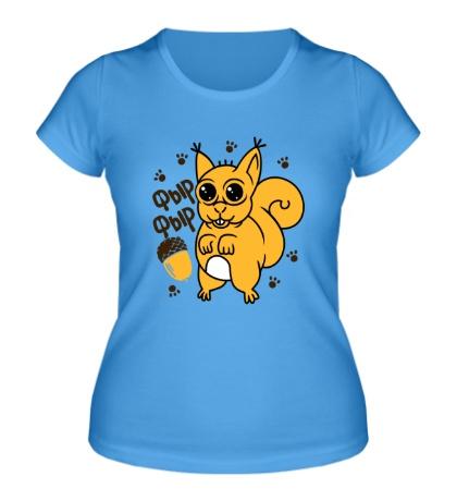 Женская футболка Толстая белка