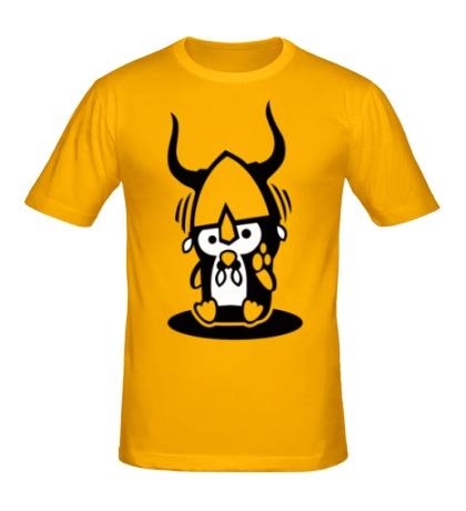 Мужская футболка Пингвин-викинг