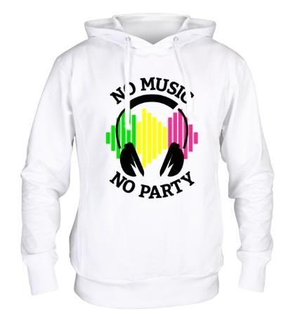 Толстовка с капюшоном No music, no party