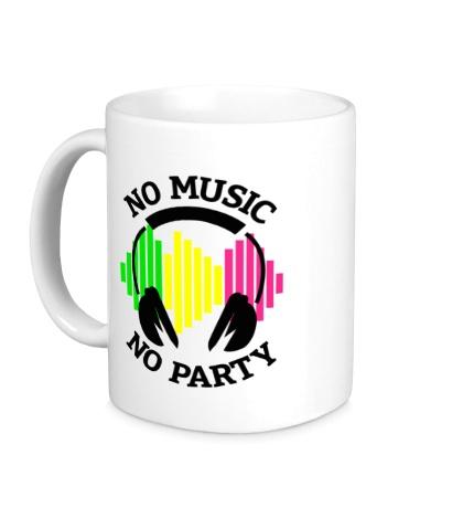 Керамическая кружка No music, no party