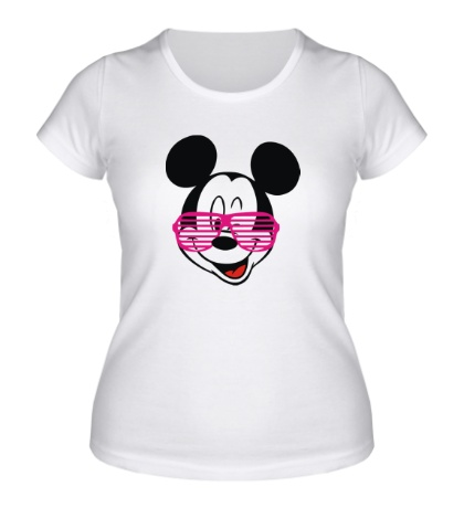 Женская футболка Микки Маус в очках
