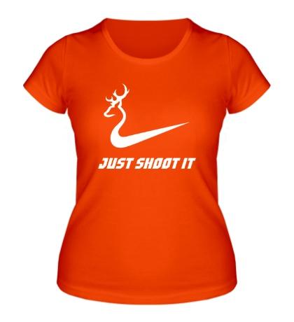 Женская футболка Just shoot it