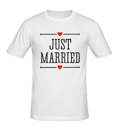 Мужская футболка Just Married Love