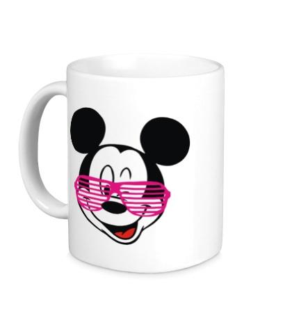 Керамическая кружка Микки Маус в очках