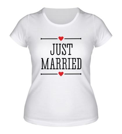 Женская футболка Just Married Love