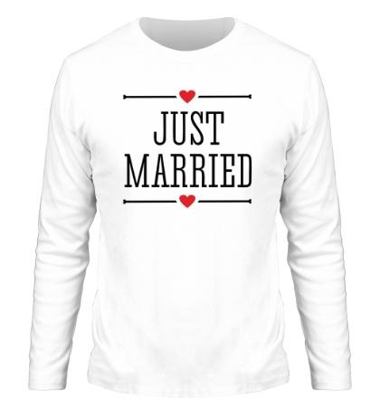 Мужской лонгслив Just Married Love