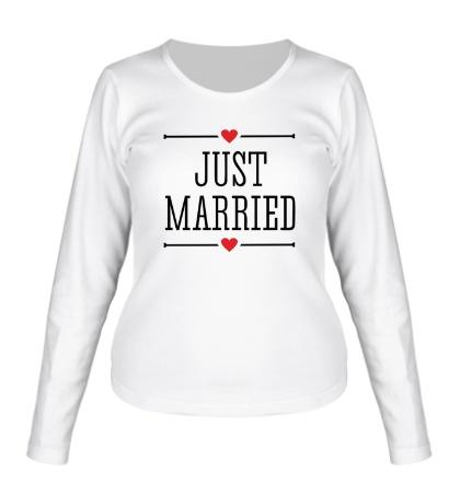 Женский лонгслив Just Married Love