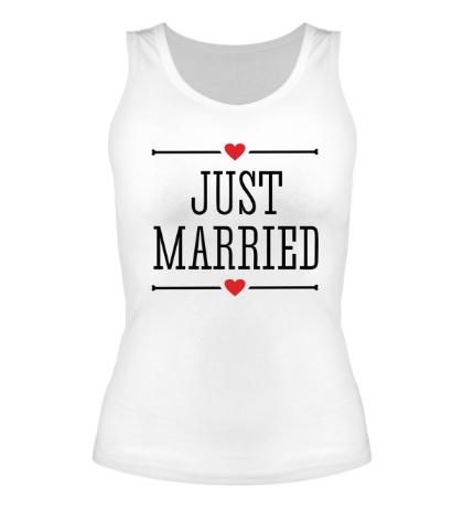 Женская майка Just Married Love