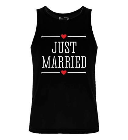 Мужская майка Just Married Love
