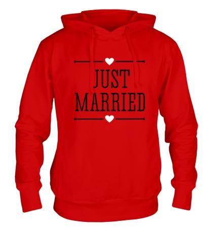 Толстовка с капюшоном Just Married Love
