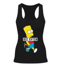 Женская борцовка Барт Симпсон Всё путем