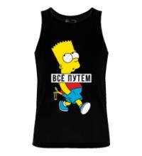 Мужская майка Барт Симпсон Всё путем