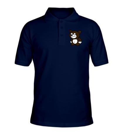 Рубашка поло Странный мишка
