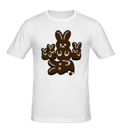Мужская футболка Шоколадные кролики