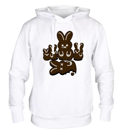 Толстовка с капюшоном Шоколадные кролики