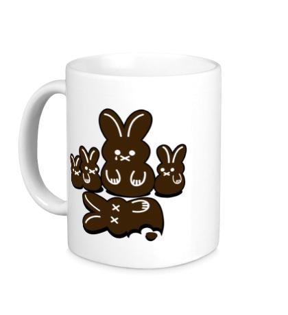 Керамическая кружка Шоколадные кролики