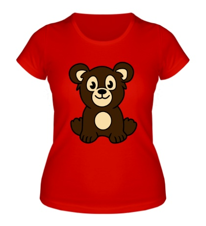 Женская футболка Мишутка