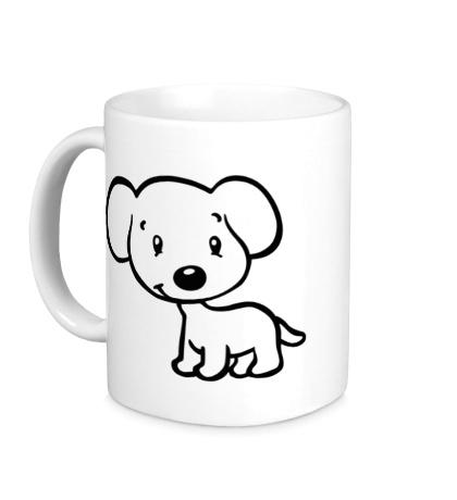 Керамическая кружка Милый щенок