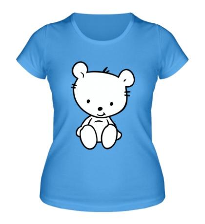 Женская футболка Белый медвежонок