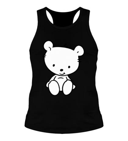 Мужская борцовка Белый медвежонок