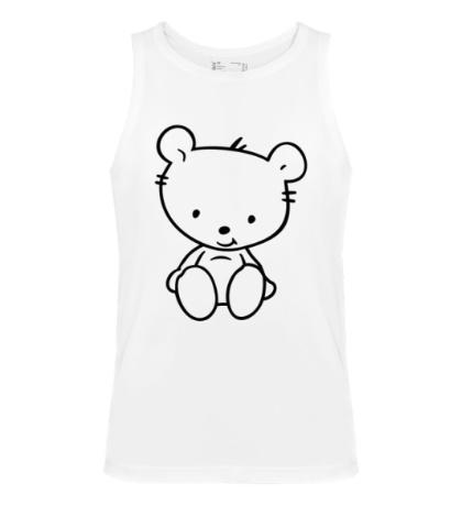 Мужская майка Белый медвежонок