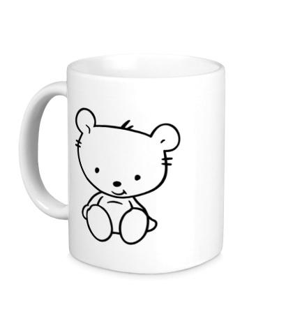 Керамическая кружка Белый медвежонок