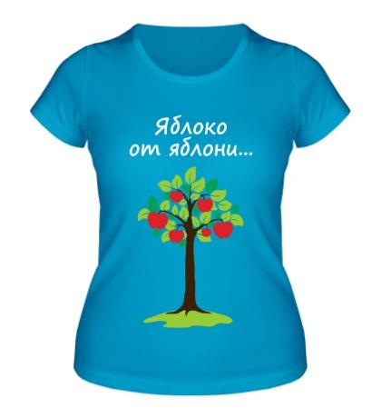 Женская футболка Яблоко от яблони для родителя