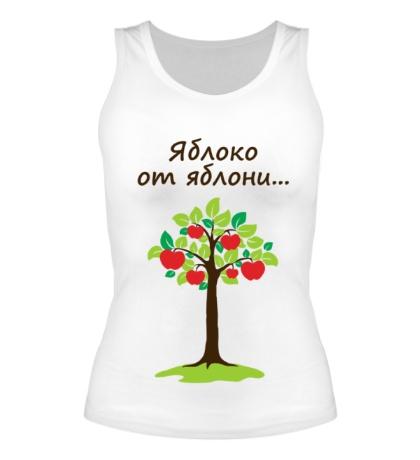 Женская майка Яблоко от яблони для родителя