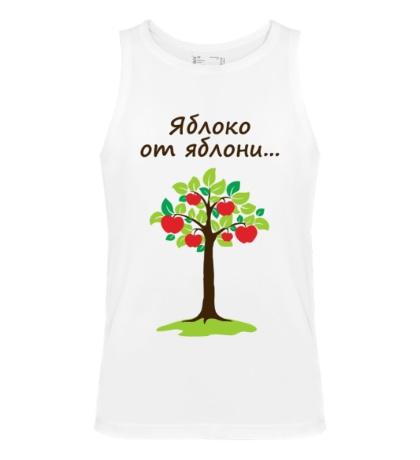 Мужская майка Яблоко от яблони для родителя