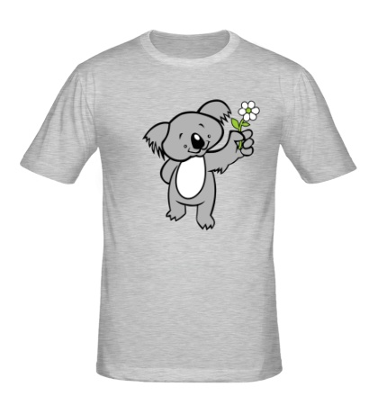 Мужская футболка Коала с цветком