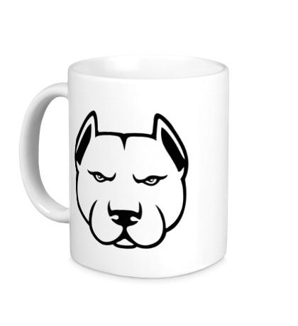 Керамическая кружка Суровый пёс