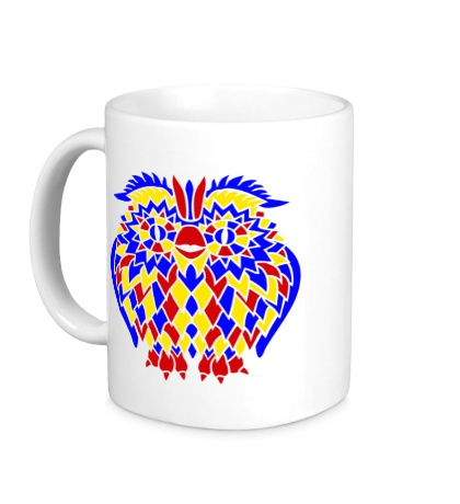 Керамическая кружка Сова из мозаики