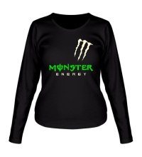 Женский лонгслив Monster energy shoulder glow