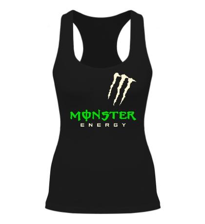 Женская борцовка Monster energy shoulder glow